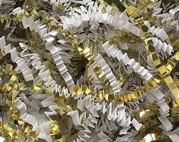 gift basket shredded paper gold shredded paper etsy