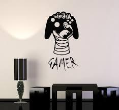 vinyl decal gamer hand video game gaming decor boys room wall vinyl decal gamer hand video game gaming decor boys room wall stickers ig2756