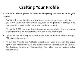 Linkedin Profile In Resume Building A Better Linkedin Profile
