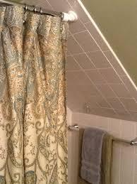 bathroom shower curtains ideas shower rod solution for a cape cod stye home bathroom shower