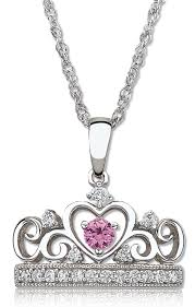 pink sapphire necklace images Princess pink sapphire diamond tiara necklace in sterling silver png