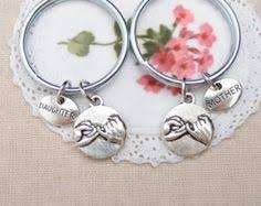 2 mother daughter keychains keyrings infinity keychain gift for