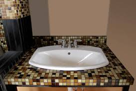 Bathroom Countertop Tile Ideas 10 Best Images Of Mosaic Bathroom Countertop Ideas Tile