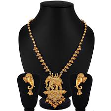 fashion jewelry necklace sets images Youbella exclusive gold plated pearl studded traditional temple jpg