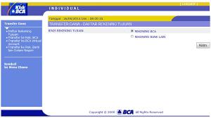teks prosedur membuat rekening bank daftar tujuan rekening pada klikbca internet banking