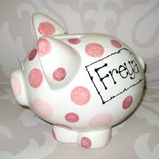 Baptism Piggy Bank Personalised Christening Gift Ceramic Piggy Money Box