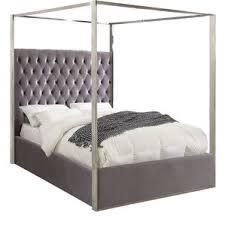 mirror canopy bed wayfair