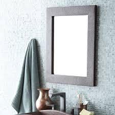unthinkable rectangle bathroom mirror sedona copper wall mirrors