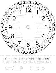 time in spanish printout spanish worksheets for children