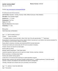 Security Clearance Resume Example by 31 Accountant Resume Samples Free U0026 Premium Templates