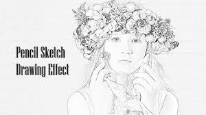 create a pencil sketch from photo drawing sketch library