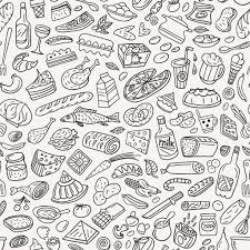 seamless pattern food food cookery seamless pattern stock vector topform 24325389