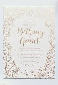 wedding invitations and gold gold foil leaf wedding invitation while there s no