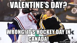 Canada Hockey Meme - valentine s day wrong it s hockey day in canada hockey goalie