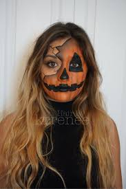 pumpkin jack o lantern halloween makeup by kristenmackoul