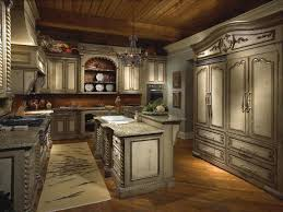 old country style kitchen design with l shape white kitchen