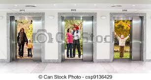 famille bureau bâtiment été famille bureau collage trois ascenseur