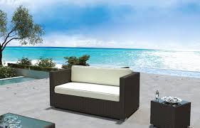 Coronado Patio Furniture by Coronado Outdoor 2 Seater Modern Sofa Black