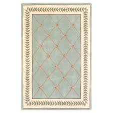 Trellis Rugs Kas Rugs French Trellis Sage Ivory 5 Ft 3 In X 8 Ft Area Rug