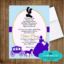 Sweet 15 Invitation Cards Princess Cinderella Quinceanera Ball Carriage