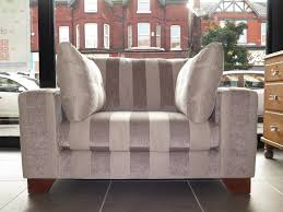 Next Armchair Mink Taupe Striped Next Snuggle Chair Loveseat Armchair In