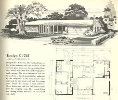small mid century home plans home plan