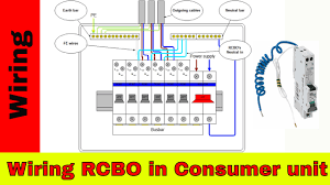 how to wire rcbo in consumer unit uk rcbo wiring youtube