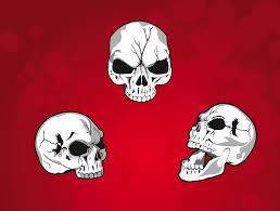 mean skulls vector art u0026 graphics freevector com