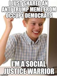Funny Democrat Memes - i just shared an anti trump meme from occupy democrats i m a social