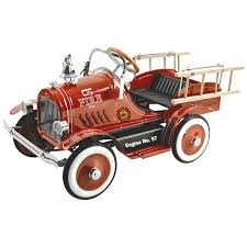 american plastic toys fire truck ride on walmart com