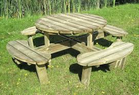 round picnic tables for sale marvelous round wood picnic table 9 wooden tables furniture
