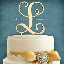 l cake topper buy letter quot l quot monogram wedding cake topper covered in