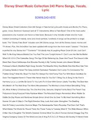 disney sheet music collection 240 piano songs by seymoursaldivar