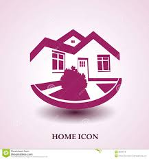 home logo icon symbol of home house icon realty silhouette real estate modern