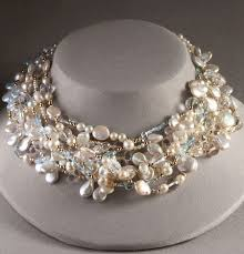 pearl necklace with crystals images Meredith frederick pearl and crystal necklace jpg