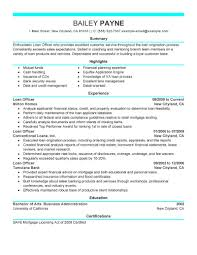 Sample Bank Resume by Best Loan Officer Resume Example Livecareer