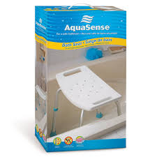 amazon com aquasense adjustable bath and shower chair with non amazon com aquasense adjustable bath and shower chair with non slip seat white health personal care