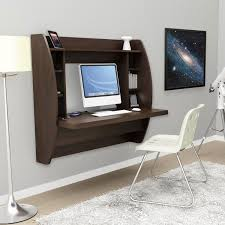 Home Office Desk With Storage by Espresso Floating Desk With Storage