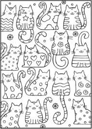 cat sample coloring coloring pages