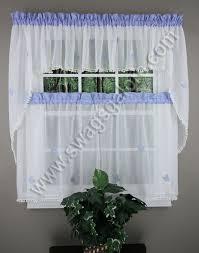 Blue Kitchen Curtains Butterfly Gingham Curtains U2013 Blue U2013 Lorraine Jabot U0026 Swag