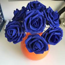 Fake Roses 100 Cobalt Blue Wedding Flowers Diameter 8cm Fake Roses Dark Blue