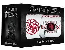 targaryen stemless wineglass set game of thrones gifts fairyglen com