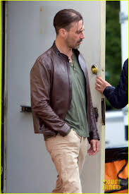 jon hamm shows off new haircut while filming a movie photo