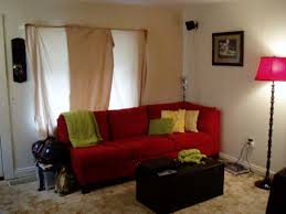 red sofa decor and decorating ideas for living room with red couch