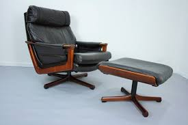 Leather Mid Century Chair Mid Century Tessa T21 Leather Swivel Chair Armchair U0026 Footstool