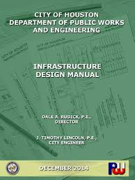 city of houston infrastructure design manual surveying easement