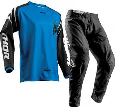 kids motocross gear combo 2018 thor sector zones kids youth motocross gear black blue