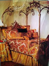 gold painted wrought iron canopy bed u2026 pinteres u2026