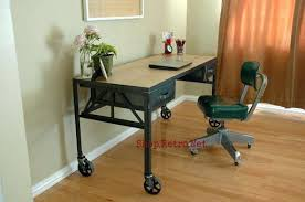 Oak Office Chair Design Ideas French Vintage Industrial Steel And White Oak Desk On Casters Http