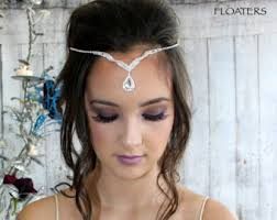 headbands that go across your forehead bridal forehead band etsy